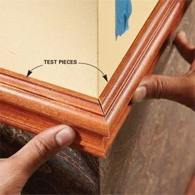 how to install chair rail ergonomic with head support a molding the family handyman photo 6 use scraps for test cuts