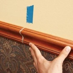 How To Install Chair Rail Captain Kirk A Molding The Family Handyman Photo 7 Scarf Joint Join Sections Of