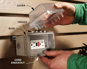 110v Receptacle Wiring How To Add An Outdoor Electrical Box The Family Handyman