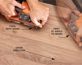 How To Sand A Table Top With A Belt Sander