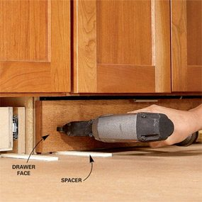 under cabinet shelving kitchen office table and chairs how to build drawers increase storage the photo 6 fasten drawer face