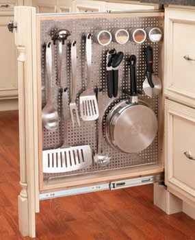 pull out kitchen cabinet best stainless steel sinks storage rollouts the family handyman narrow pantry shelves