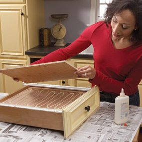 repair kitchen cabinets utensil caddy home how to fix the family handyman get sag out
