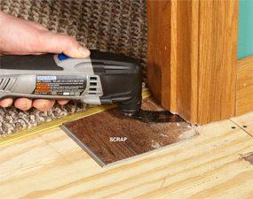 Undercutting Door Jambs For Tile