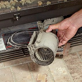 wiring diagram for electric stove outlet posterior skull blank noisy gas fireplace blower? here's how to replace it | the family handyman