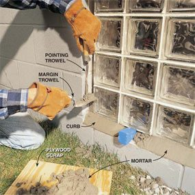Installing Glass Block Windows In Basement The Family Handyman
