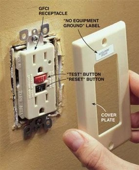 Gfci Protected Outlet Sticker : protected, outlet, sticker, Sears, Outlet, Bedspreads:, Protected, Stickers