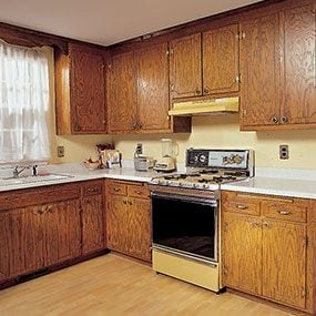 repainting kitchen cabinets unit how to refinish the family handyman before