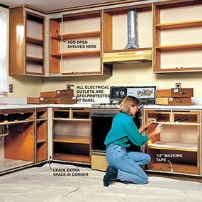 repaint kitchen cabinets narrow tables how to refinish the family handyman