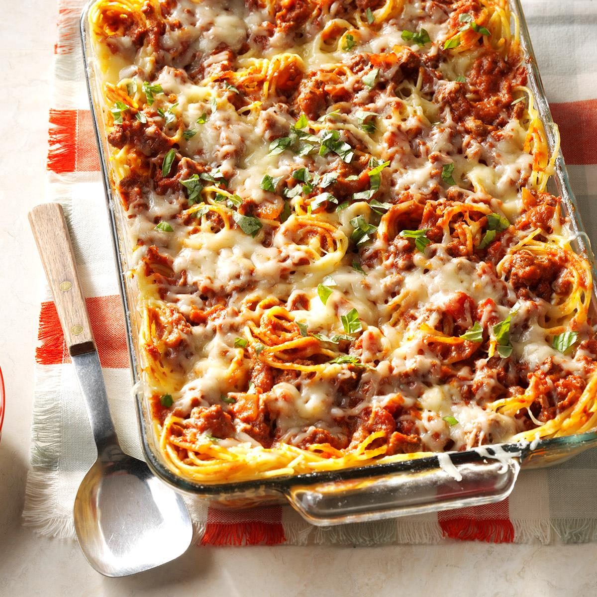 Favorite Baked Spaghetti Recipe Taste Of Home