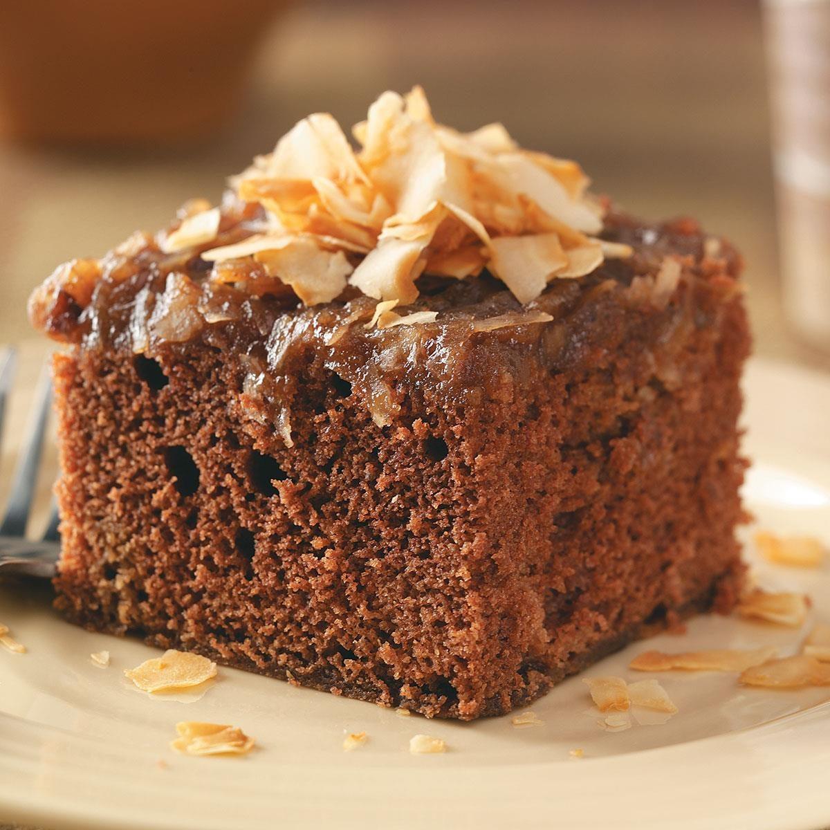 German Chocolate Upside Down Cake Recipe Taste Of Home