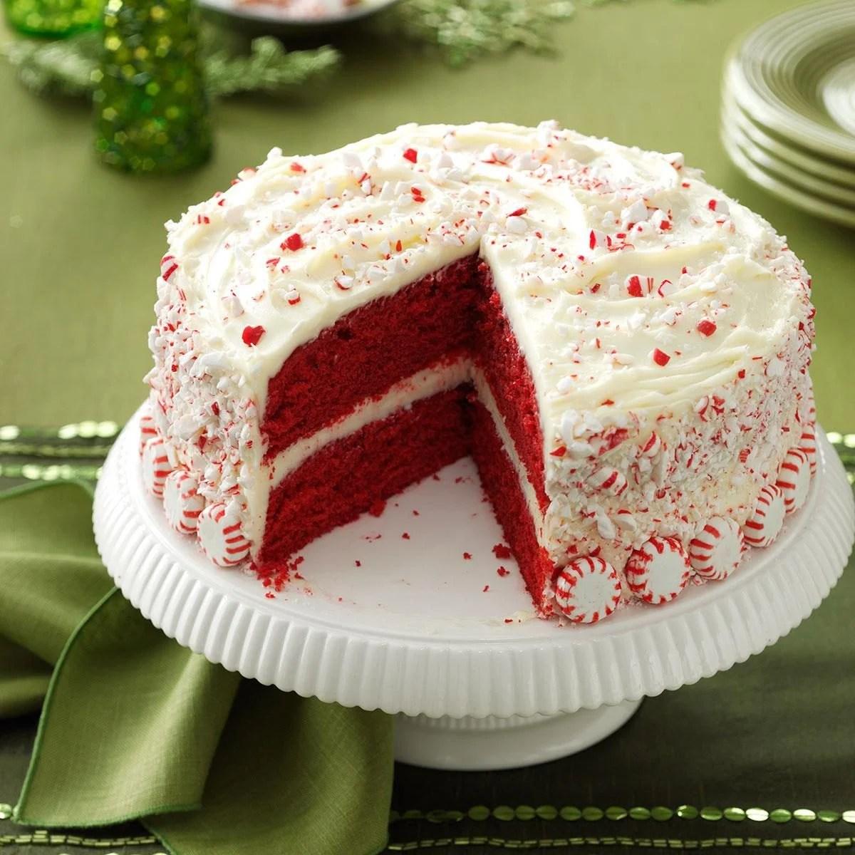 Peppermint Red Velvet Cake Recipe