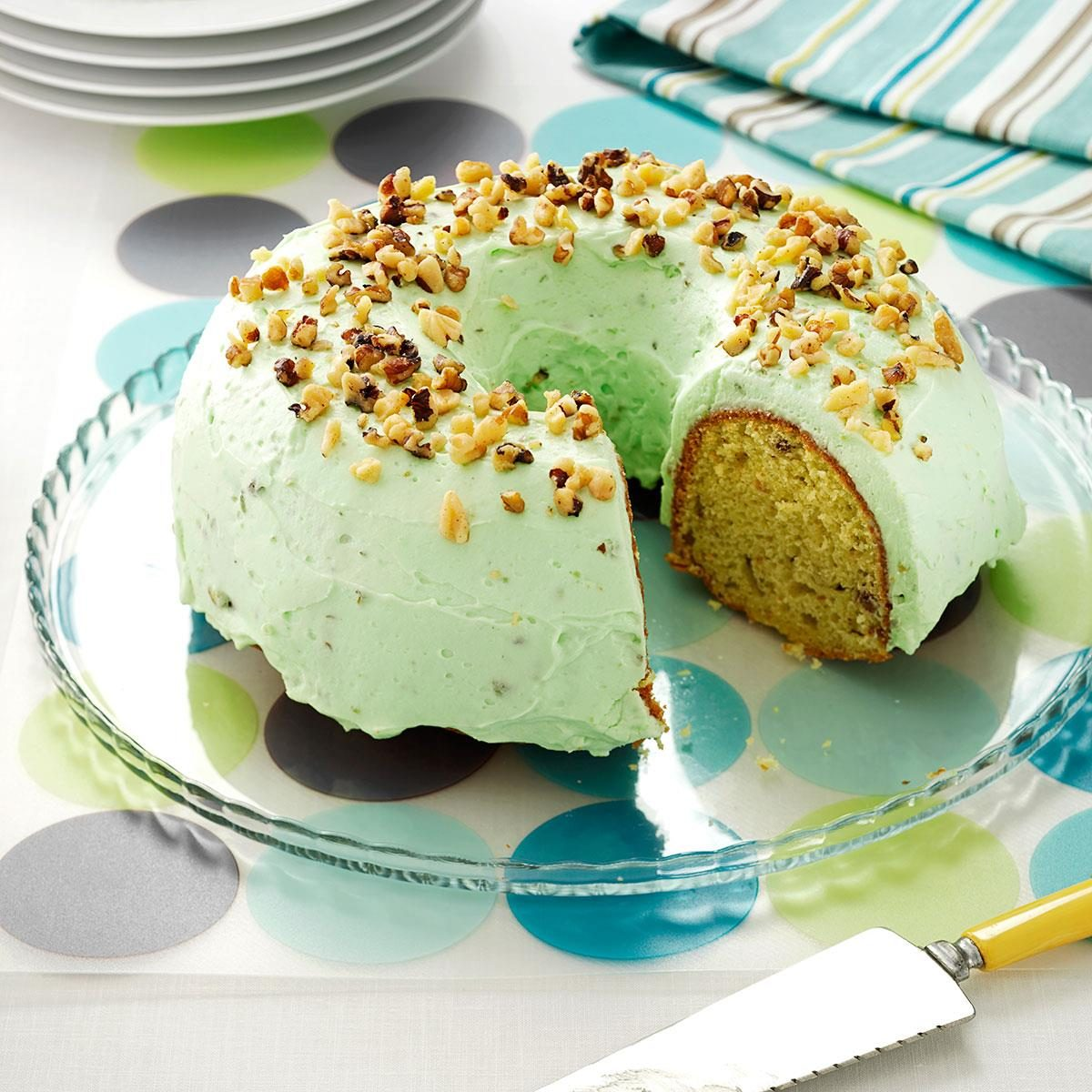 Pistachio Pudding Cake Recipe