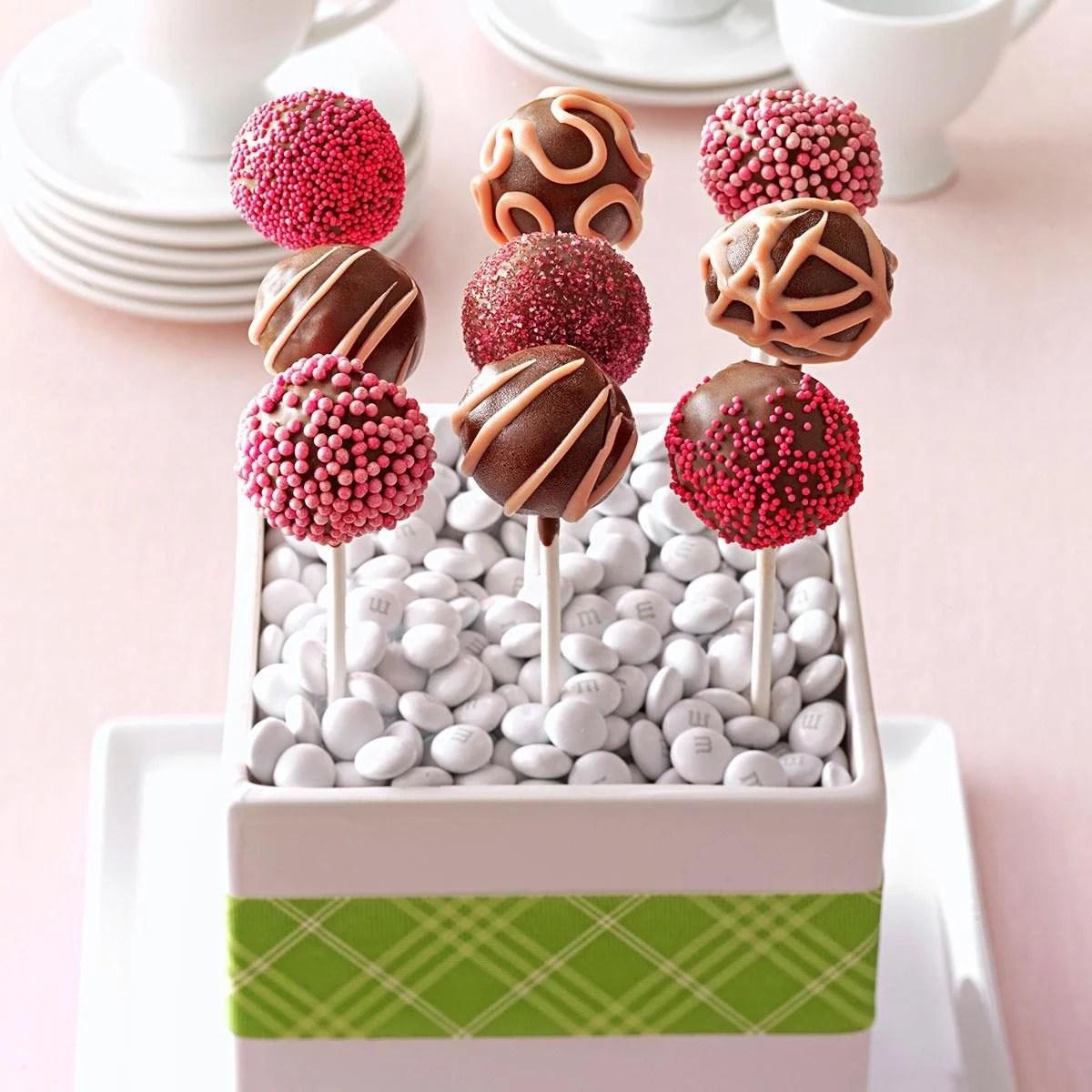 Raspberry Truffle Cake Pops Recipe