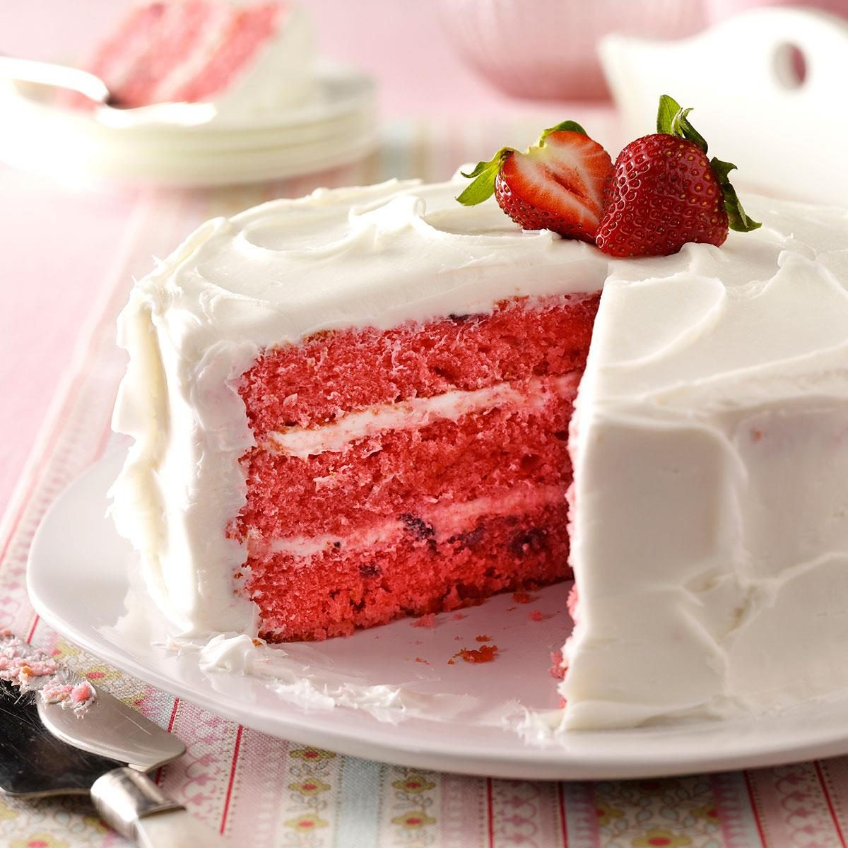 Strawberry Cake Recipe Taste Of Home