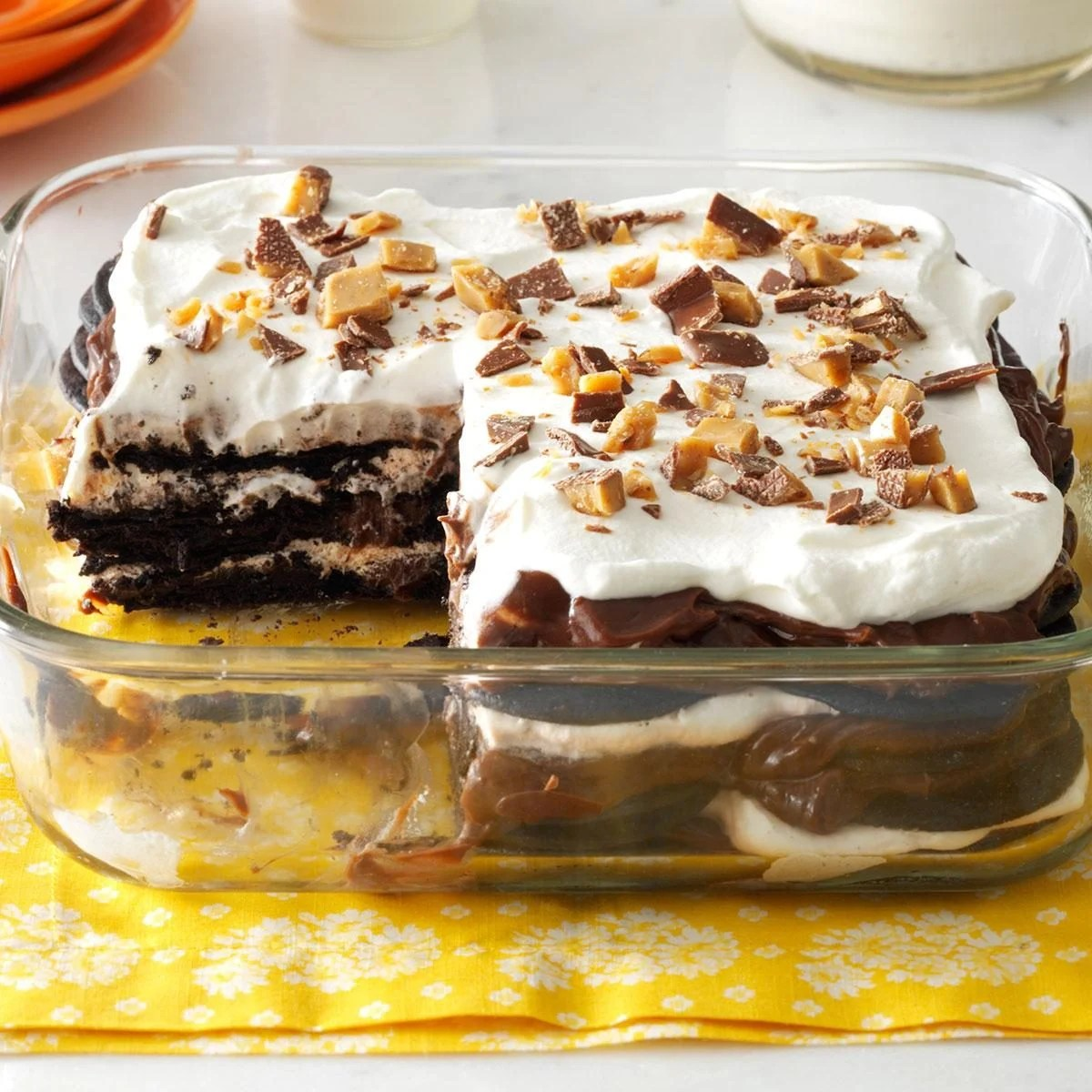 Double Chocolate Toffee Icebox Cake Recipe