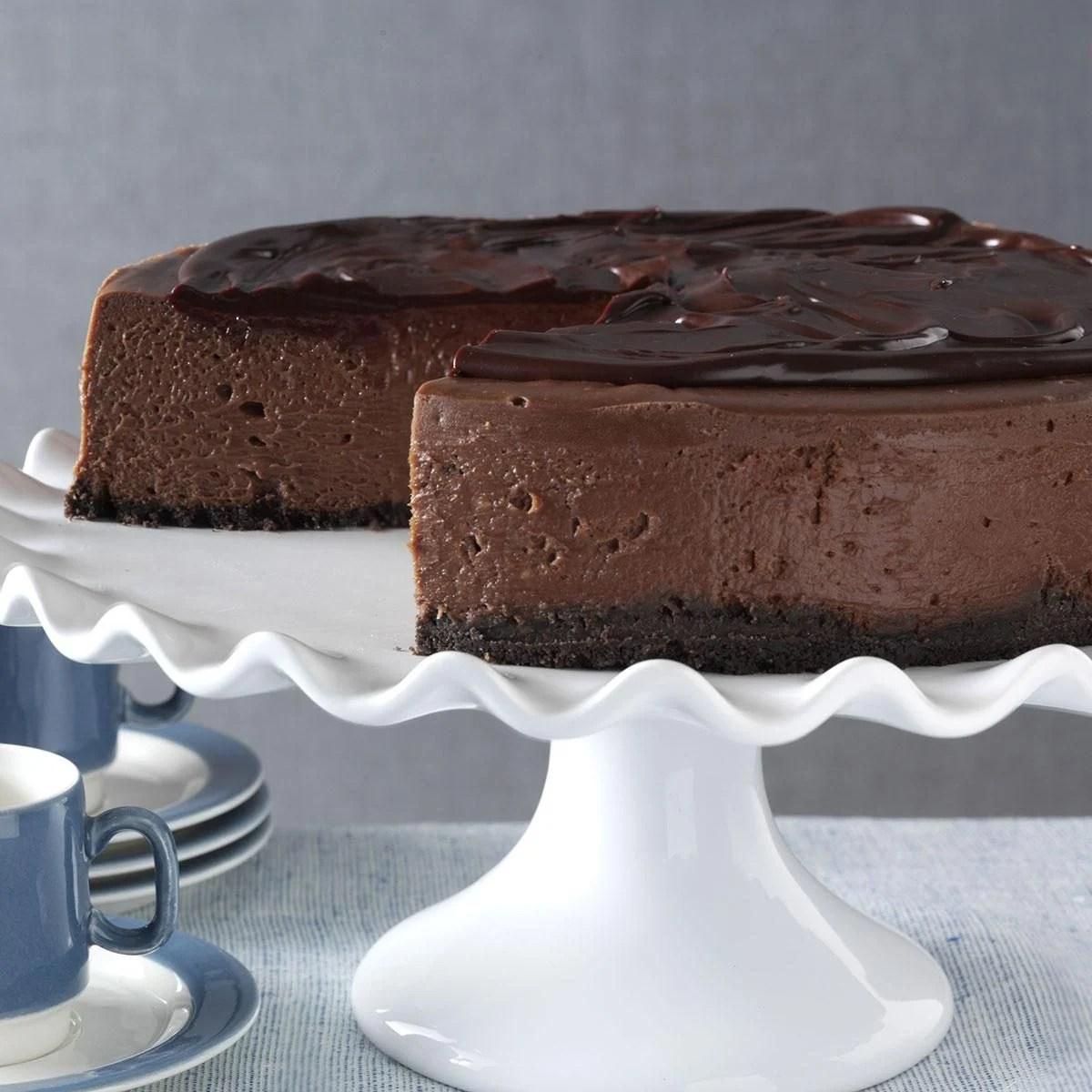 3D Chocolate Cheesecake Recipe Taste Of Home