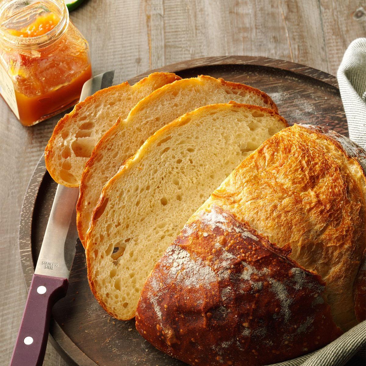 Crusty Homemade Bread Recipe Taste Of Home