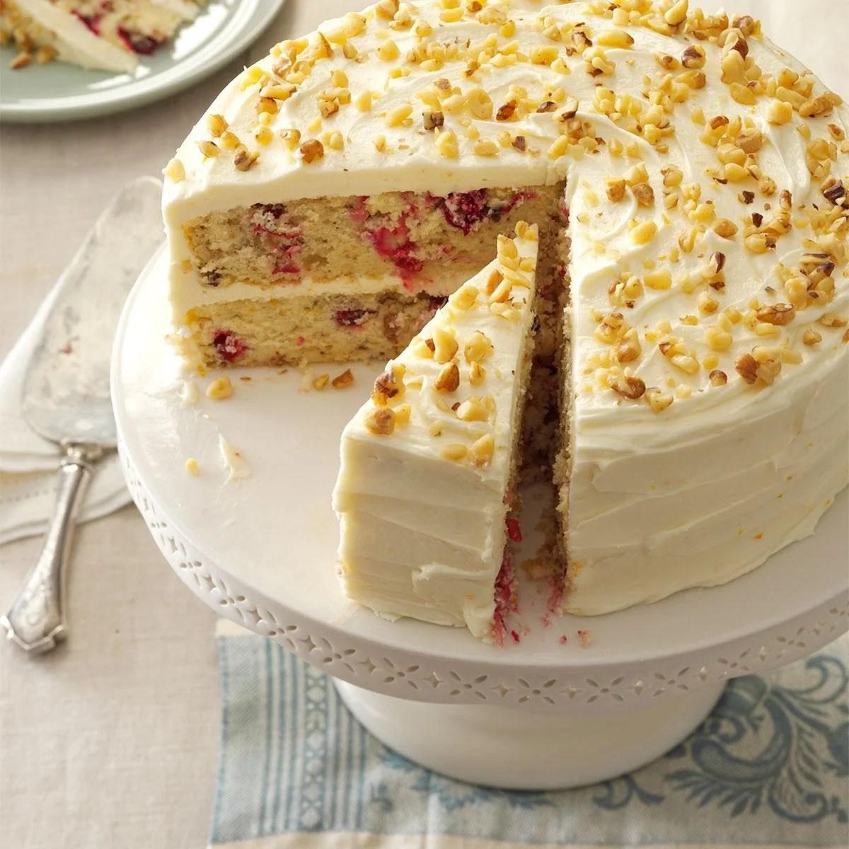 Cranberry Layer Cake Recipe Taste Of Home