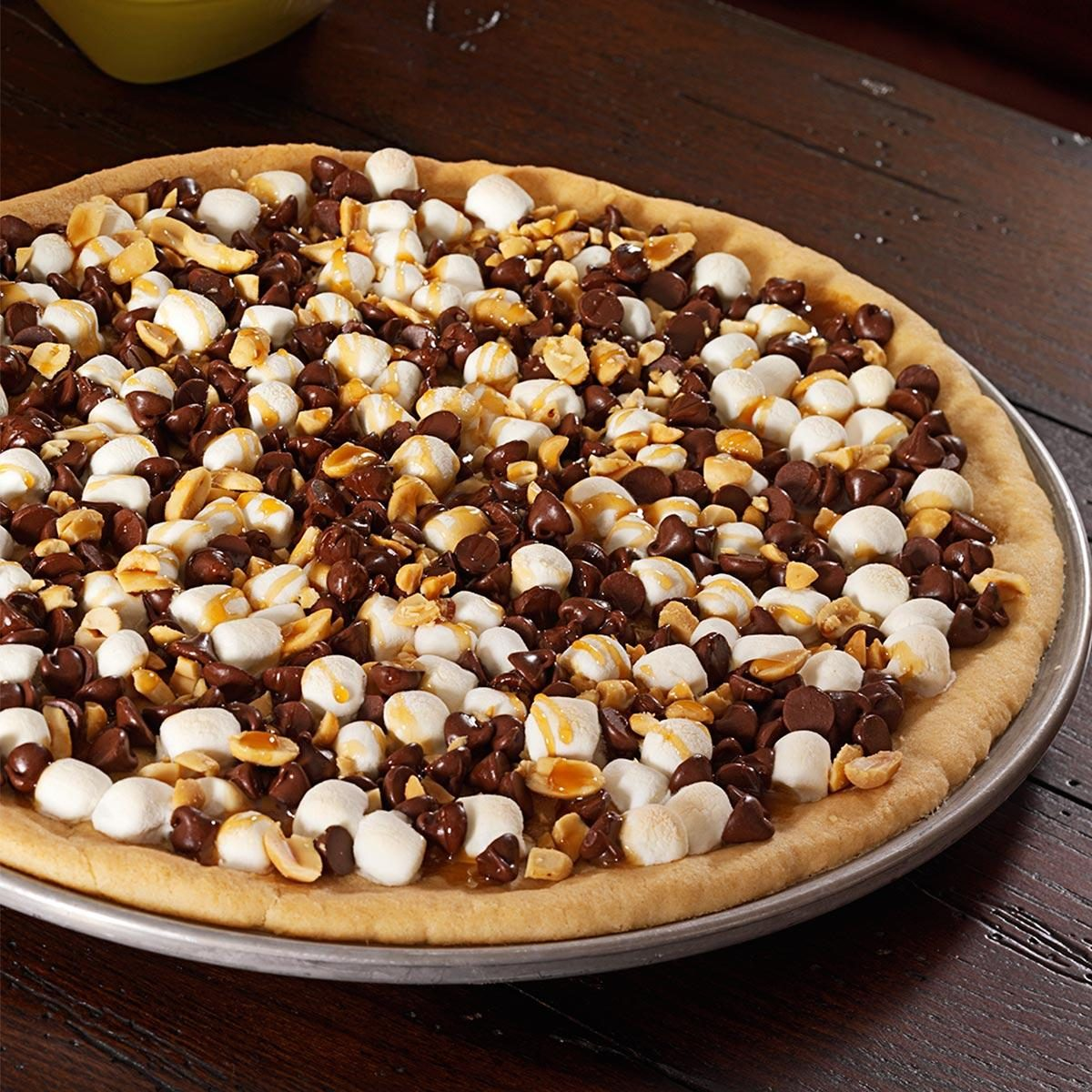 Rocky Road Cookie Pizza Recipe Taste Of Home