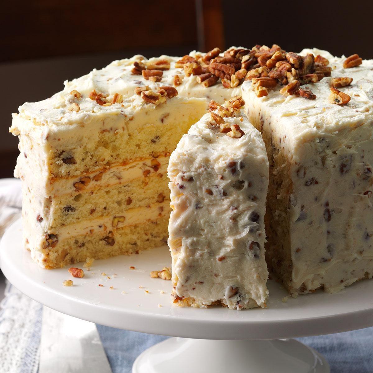 Butter Pecan Layer Cake Recipe Taste Of Home