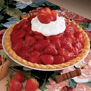 Sky-High Strawberry Pie, National Strawberry Month, Fruit, Food Porn Friday