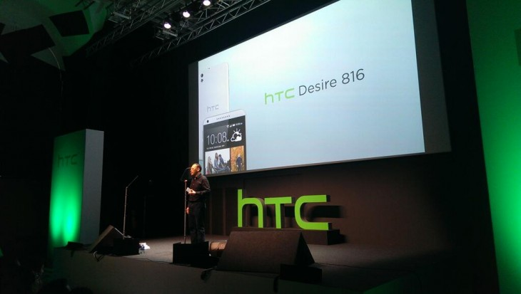 HTC Desire 816 launch 730x413 HTC unveils mid range Desire 816 Android smartphone with 5.5 720p display and BoomSound speakers