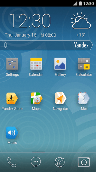 YandexKit homescreen Yandex launches free Android firmware Yandex.Kit in a bid to replace Googles apps with its own