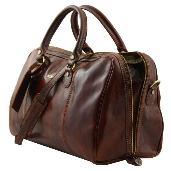 Paris Travel Leather Duffle bag Dark Brown TL1045