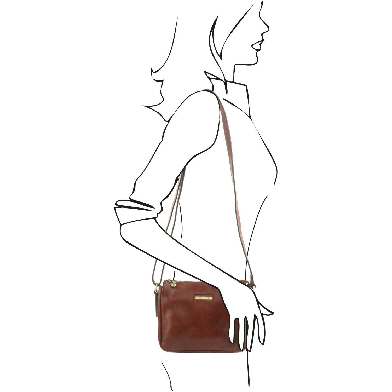 Michela Leather Shoulder bag Black TL141476