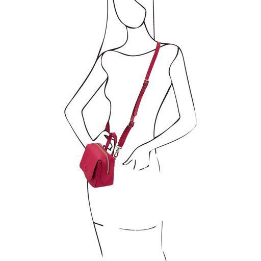 Dalia Saffiano Leather Mini bag Magenta TL141762