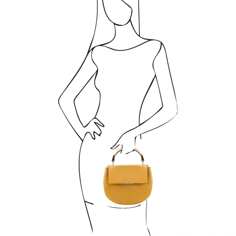 Luna Leather Handbag Mustard TL141817