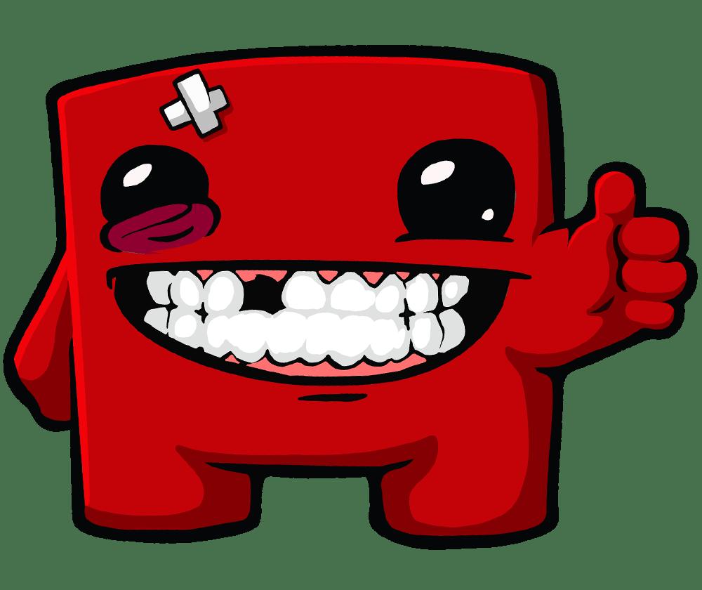 Image result for Super Meat Boy happy