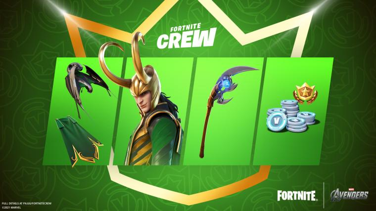 Fortnite Crew Loki Laufeyson Items