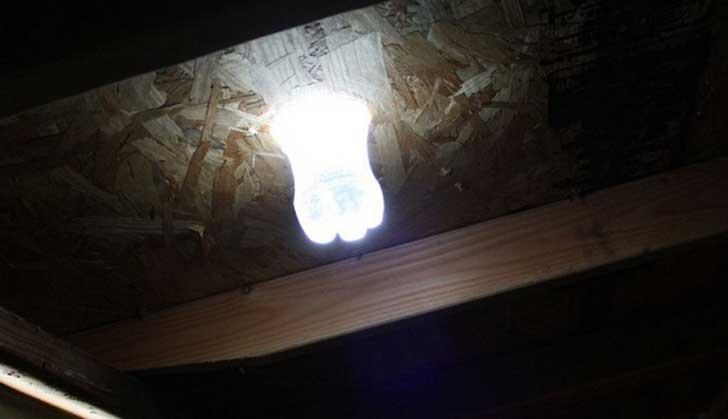 Haz t mismo una increble lmpara solar con cloro y una