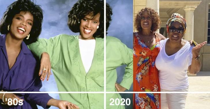 16 5 - Así lucían y así lucen ahora estos 20 amigos famosos. Rihanna y Cara siguen combinando sus atuendos