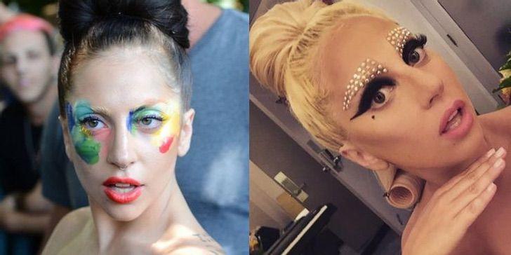 """5 69 - 10 celebs que se atreven a jugar con el maquillaje. Aunque una terminó luciendo como """"payaso"""""""