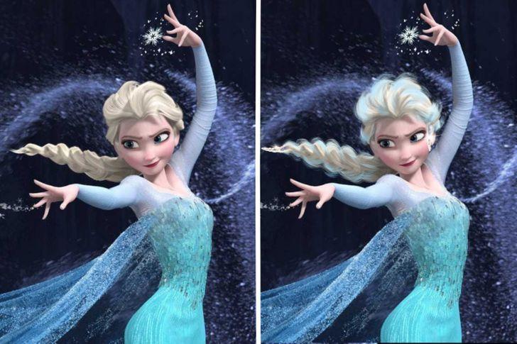 10 53 - Así se verían las princesas Disney si tuvieran un cabello más real. Ariel por fin lo tiene mojado