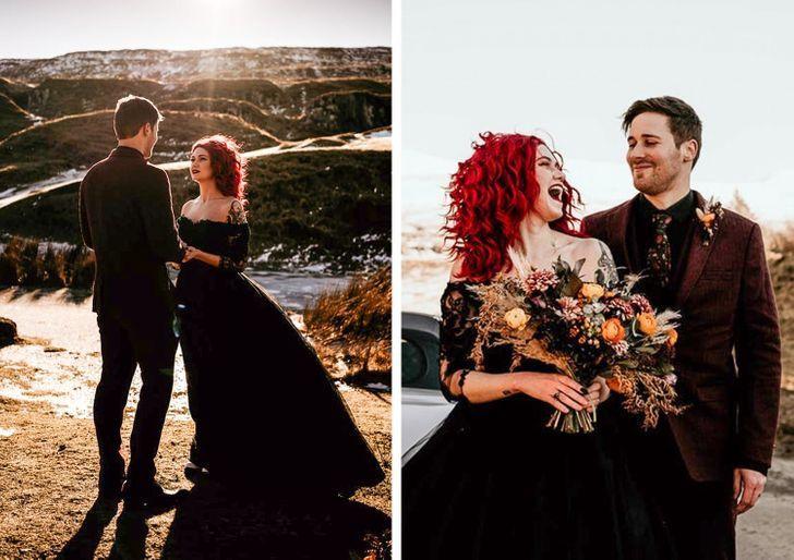 5 13 - 30 novias que no usaron el típico vestido blanco en su boda. Una se vistió de dinosaurio