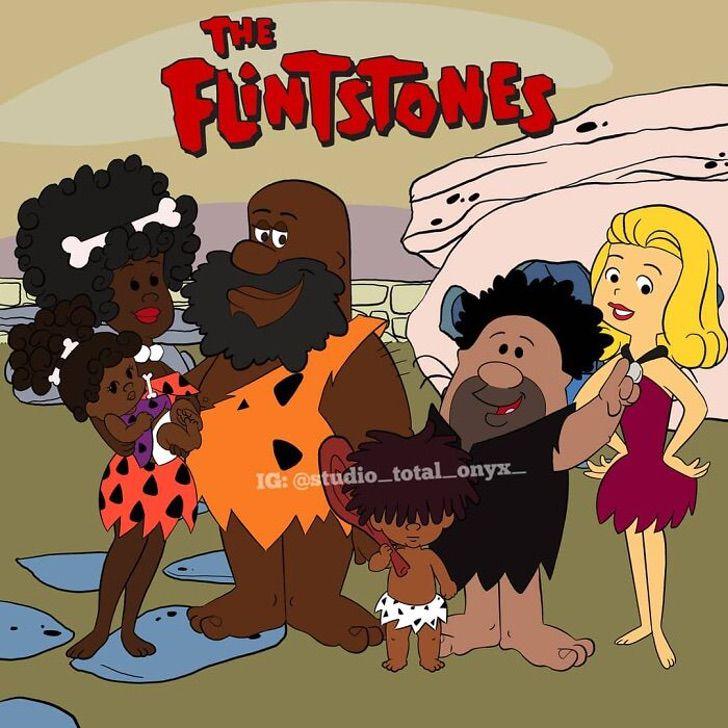 caricaturas color piel5 - Artista cambió el color de piel de 16 famosas caricaturas para crear conciencia sobre el racismo