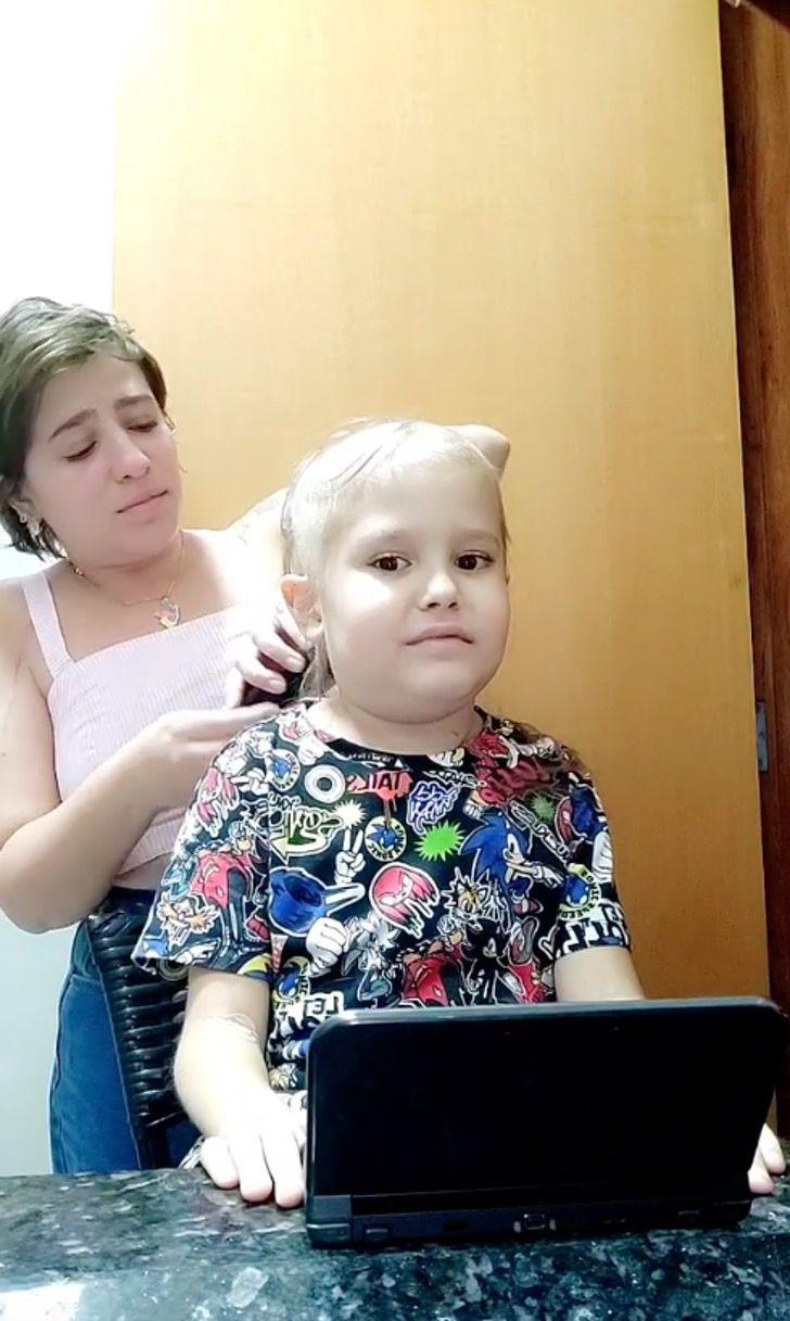 """Captura de Pantalla 2021 07 02 a las 12.52.24 - Madre rompió en llanto al rapar la cabeza de su hijo con leucemia: """"Te amo, mi amor más hermoso"""""""