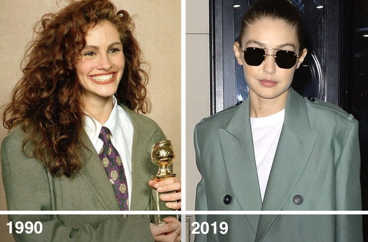 """7 7 - 13 veces que las celebs actuales """"revivieron"""" las famosas tendencias de los 90s"""