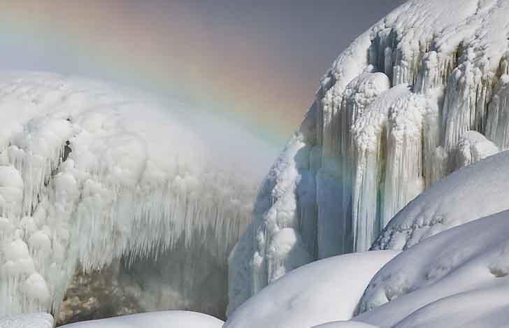 cataratas del niagara estados unidos010 1 - El frío sigue castigando sin piedad a Estados Unidos. Ahora se congelaron las cataratas del Niágara