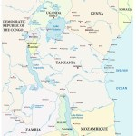 Map Great African Lakes Royalty Free Vector Image