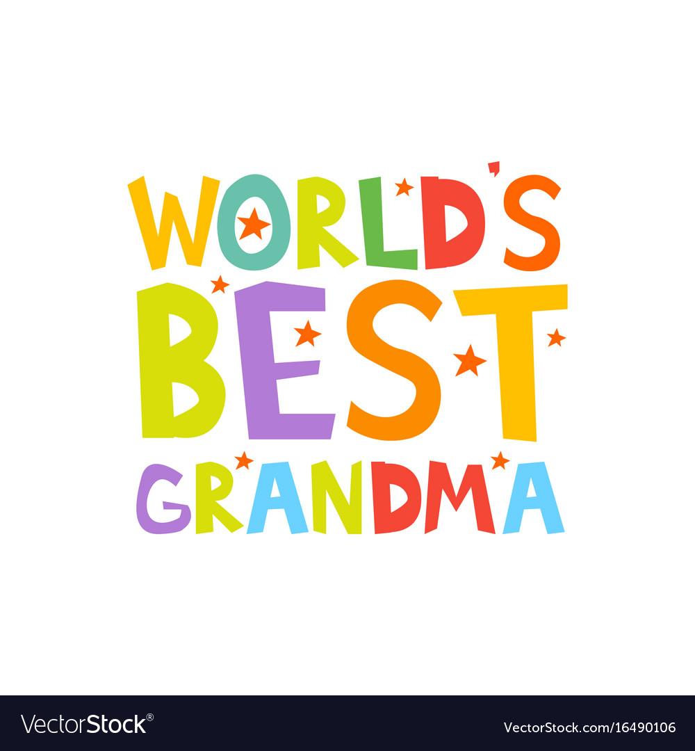 worlds best grandma letters