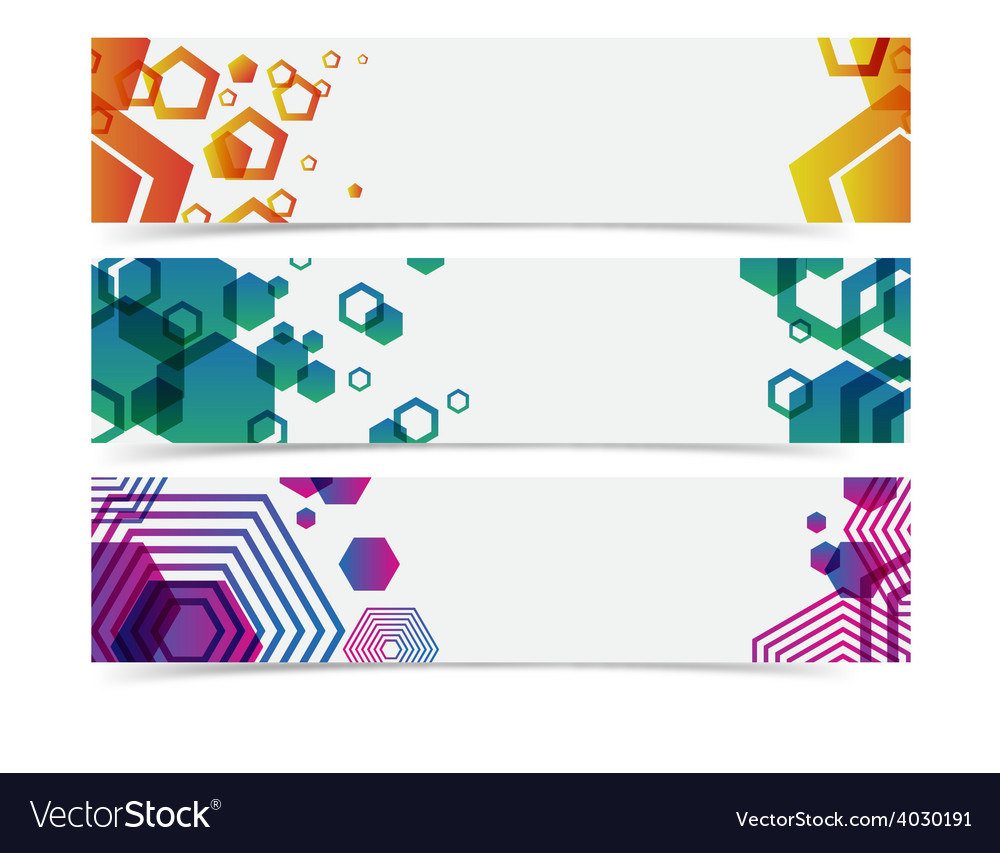 abstract geometry colorful banner