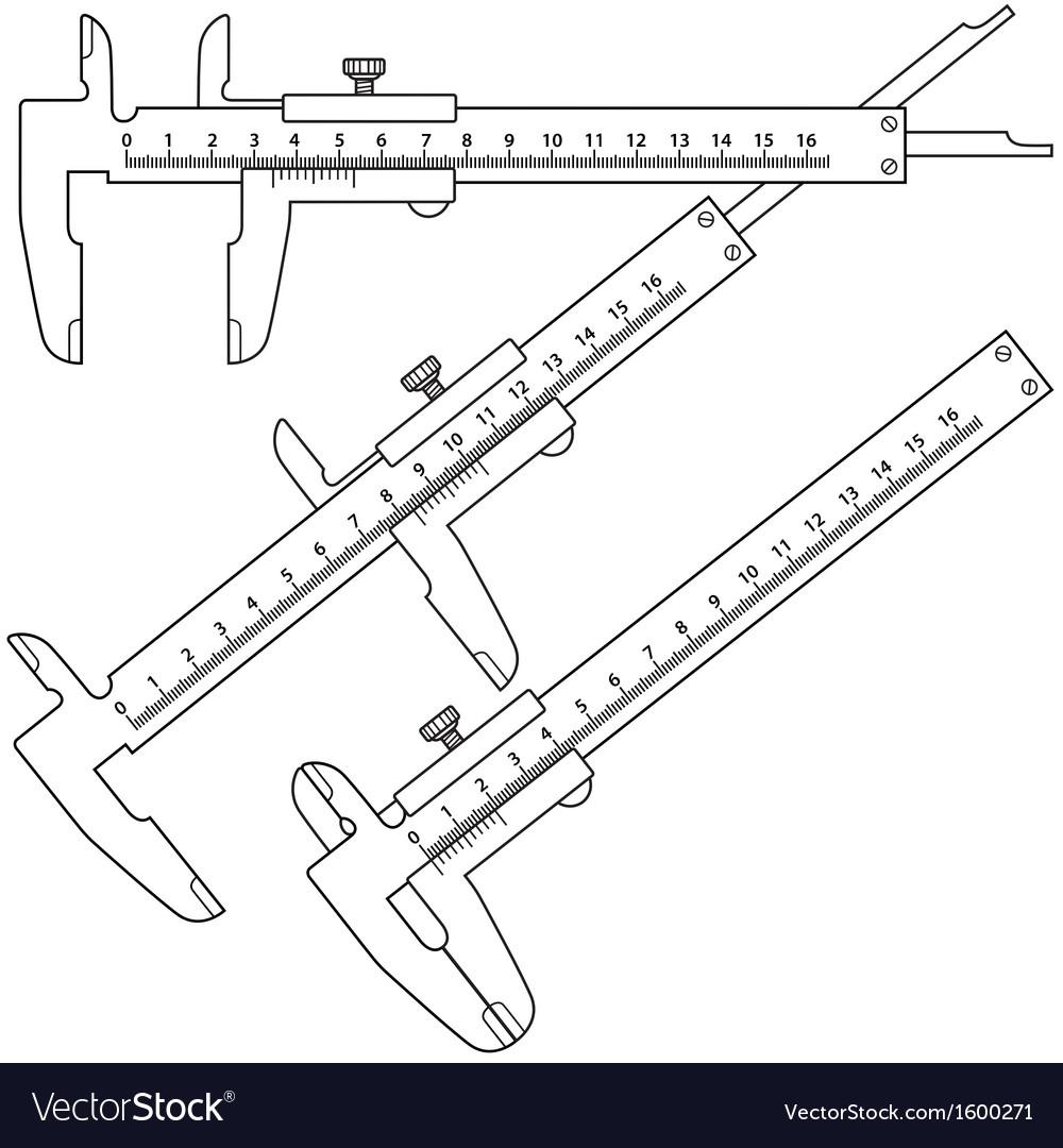 hight resolution of sliding calliper vector image