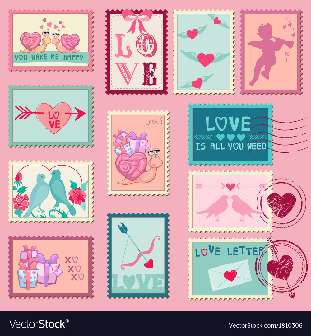 love stamps for wedding