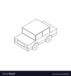 toy car icon isometric 3d style vector image [ 1000 x 1080 Pixel ]