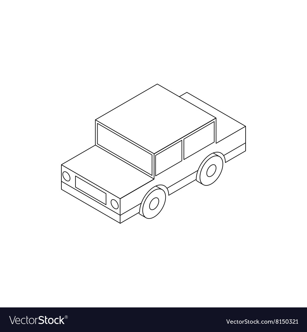 hight resolution of toy car icon isometric 3d style vector image